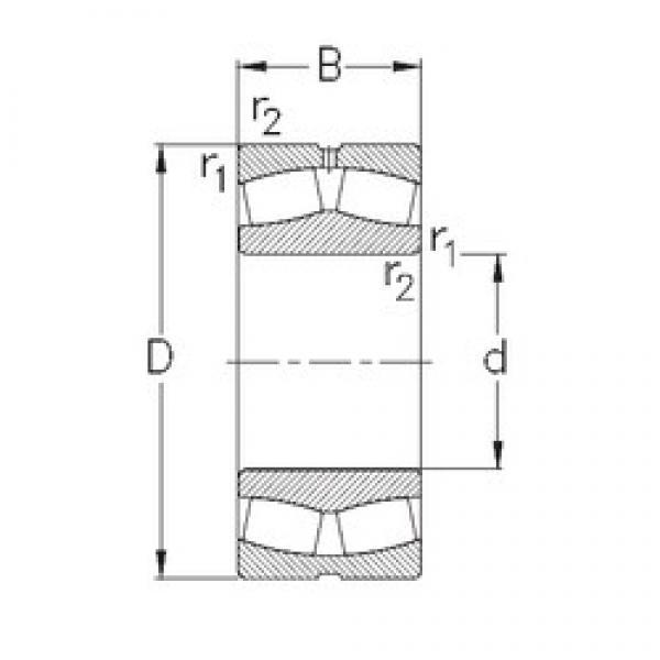 120 mm x 180 mm x 60 mm  NKE 24024-CE-W33 spherical roller bearings #1 image