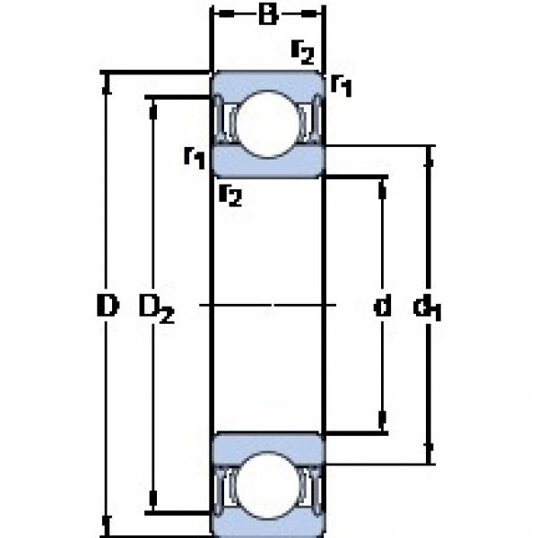70 mm x 100 mm x 16 mm  SKF 61914-2RZ deep groove ball bearings #1 image